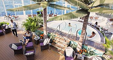 Guests Enjoying the Drinks and Pool at the Solarium