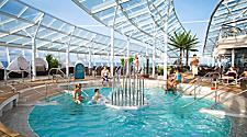 solarium, pool, fountains, oasis class, oasis of the seas, allure of the seas, relaxation, vitality, adult, group