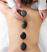 Woman Receiving a Spa Stone Massage