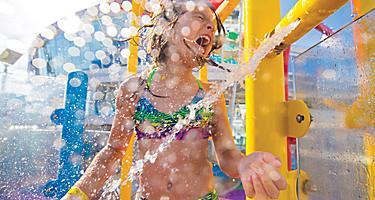 Girl Getting Splashed on Harmony of the Seas