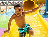 Splashaway Boy Sliding Smiling