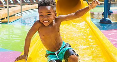 Splashaway Boy Sliding Smiling