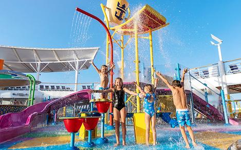 Group of Kids Splashing on Splashaway Bay