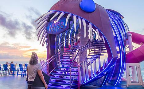 Woman Excited to Ride The Ultimate Abyss on Harmony of the Seas