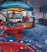 onboard,  Adventure Ocean empty,  Aquanauts play room,  kids spaces, fleetwide