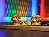 The hamburger sliders served at Bamboo Room