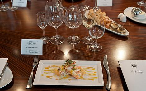 Chefs Table Crab Wine Tasting