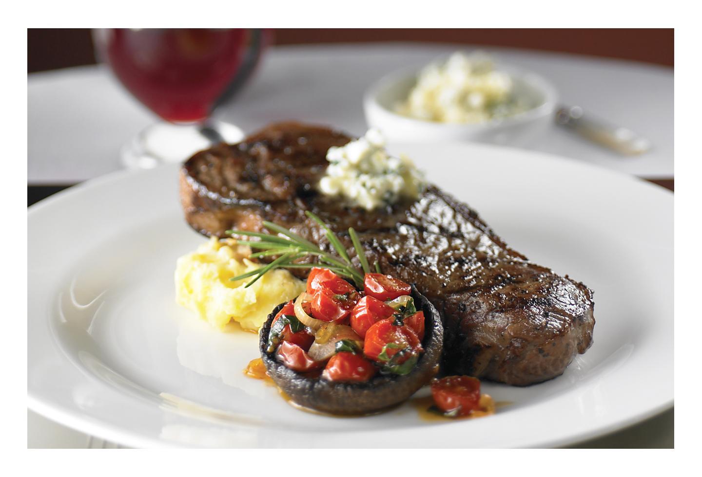 Grilled NY Strip Steak Food, Chops Grille Restaurant