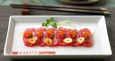 Izumi, Restaurant, Food and Beverage, Dining, Japanese Food and Beverage, sushi, Tuna Wasabi Carpaccio