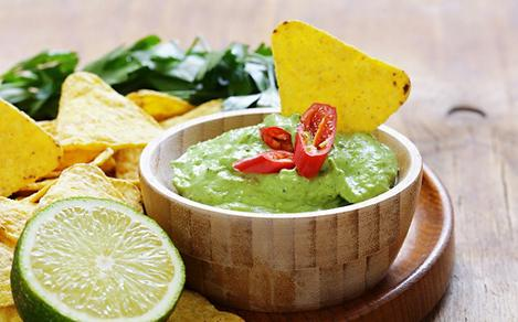 Guacamole and Tortilla Chips at Sabor Mexican Restaurant