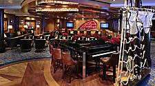 AN, Anthem of the Seas, Schooner Bar, lounge, piano, ship rigging decor, screens in back,