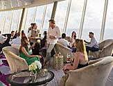 Oasis Suites Lifestyle, Suite Lounge, people relaxing, ocean view, conversation, waiter, staff, server, serving drinks,