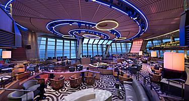AN, Anthem of the Seas, Two 70 Lounge, Deck 5 Aft, bar, entertainment, ocean view, daytime, empty room