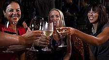 Vintages, lifestyle, celebration asian European caucasian women, Food and Beverage, fleetwide, Bars, Lounges, Hot Spots, Vintages Wine Bar, Adults, Girls having a toast,
