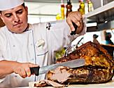 A turkey carving station at the Windjammer
