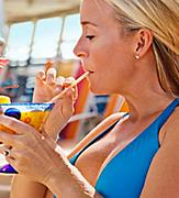 pool, caucasian, european woman, Food and Beverage, onboard activities, fleetwide