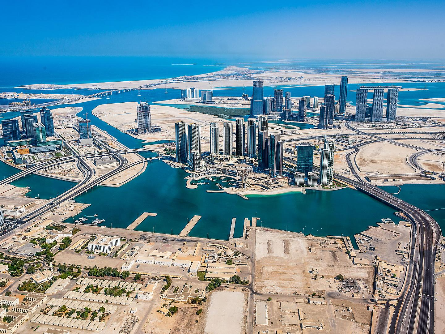 Abu Dhabi, United Arab Emirates Aerial View