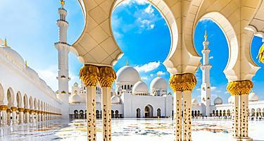 The Sheikh Zayed Mosque in Abu Dhabi, United Arab Emirates