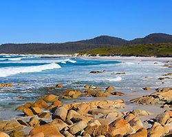 A rocky beach in Adelaide, Australia