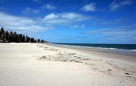 A sandy beach in Adelaide, Australia