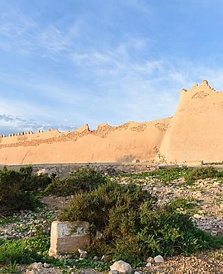 View of the Kasbah Oufella fortress in Agadir, Morocco