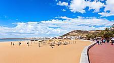 View of a beach in Agadir, Morocco