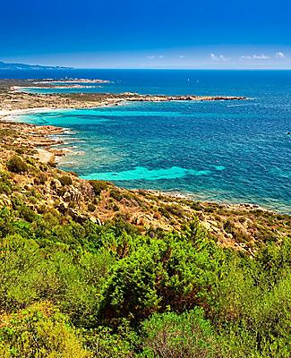 A picturesque coastal view in Corsica
