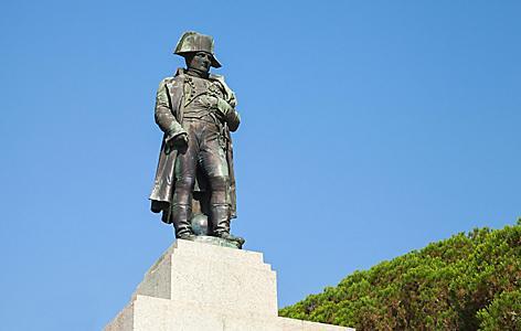 A statue of Napoleon Bonaparte in Ajaccio, Corsica