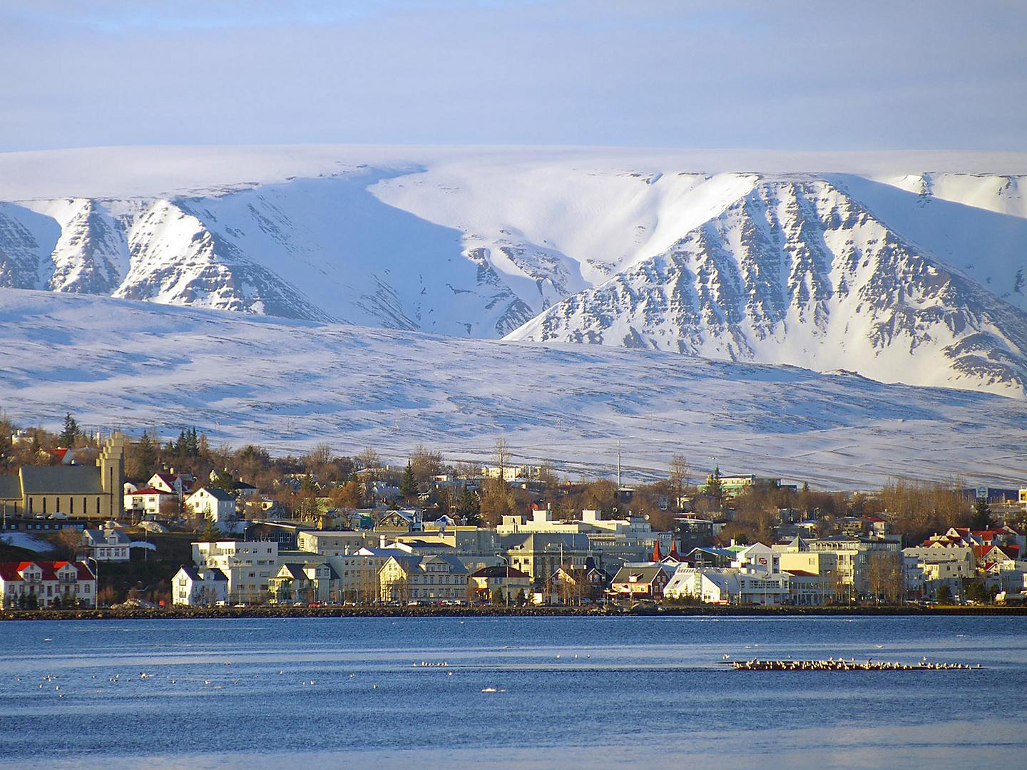 Akureyri, Iceland City View