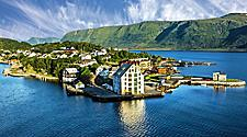 Coastal view of Alesund, Norway