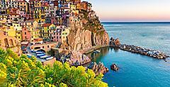 Amalfi Coast (Salerno), Italy Homes On Coastal Cliff