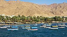 Glass boats in the gulf of Aqaba, Jordan