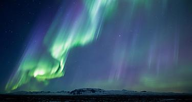 View of the northern lights