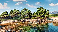 Beautiful outdoor scene of Vilagito Torony Nature Reserve during Spring in Argostoli, Greece