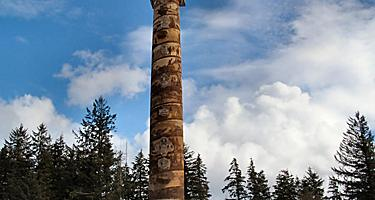 The Astoria Column monument in Oregon