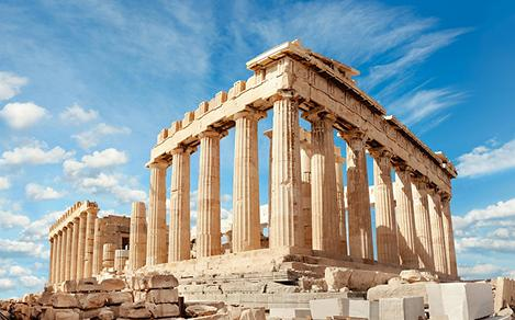 View of the Parthenon in Athens, Greece