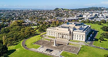 View of Auckland, New Zealand from Mount Eden