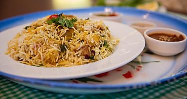 Arabic machboos, mixed rice dish in Bahrain