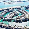 Aerial view of the floating city in Bahrain