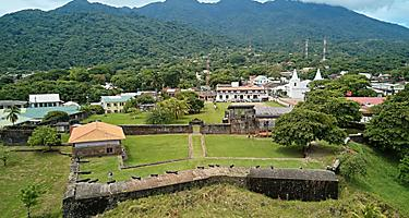 The ruins of the Santa Barbara fort in Honduras