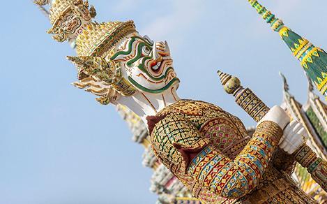 Bangkok Thailand Statue Traditional Temple