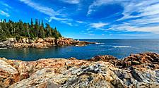 The rocky coast at Acadia National Park