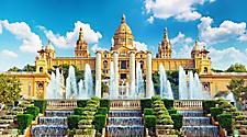 The National Museum of Catalan (Museu Nacional d'Art de Catalunya) on a Summer day in Barcelona, Spain