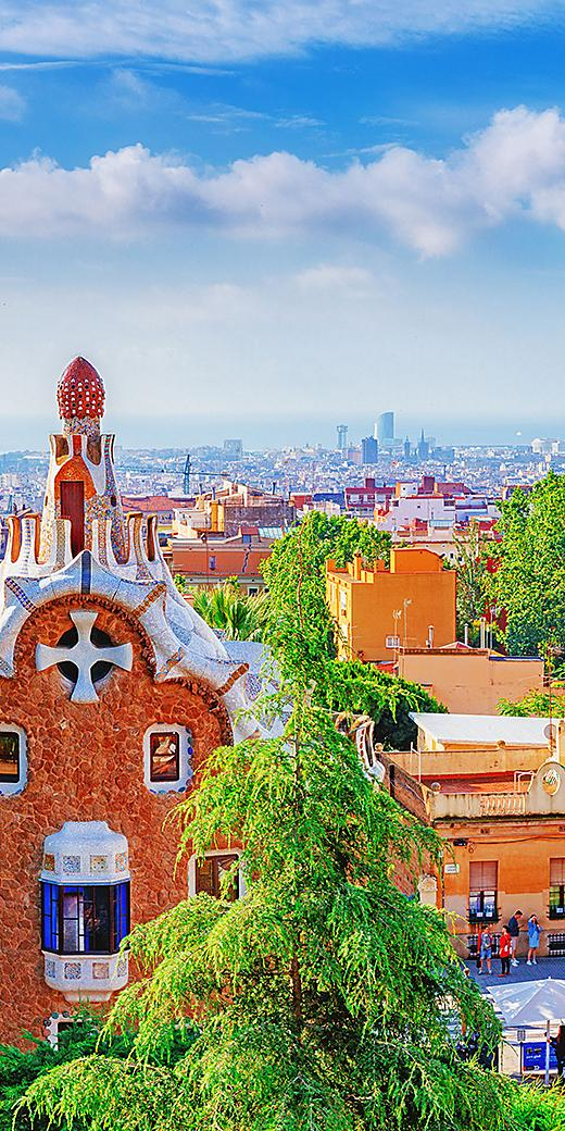 Park Guell architecture in Barcelona, Spain