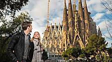 La Sagrada Couple Walking