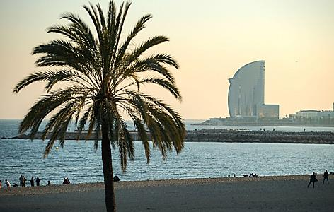 Barceloneta Beach  at Sunset