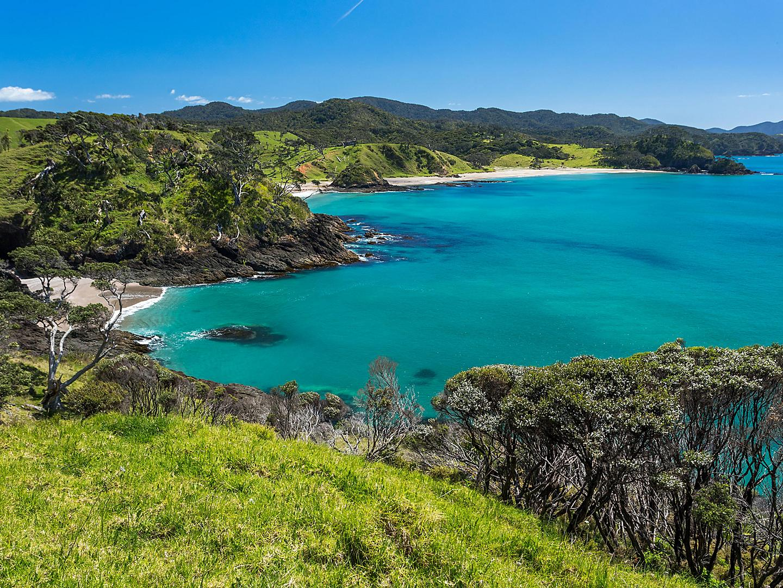 Bay of Islands, New Zealand Pacific Ocean Landscape