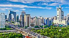 View of the cityscape in Beijing, China