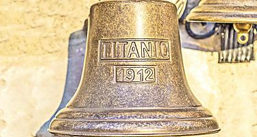 a replica souvenir bell from the titanic