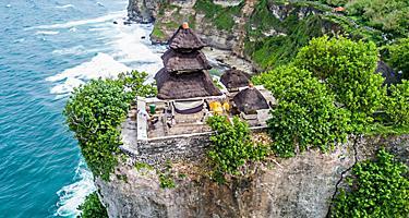 Uluwatu Temple Pura Luhur in Bali, Indonesia